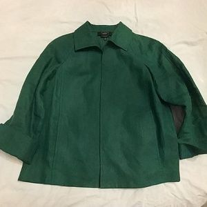 Talbots 100% linen unlined jacket